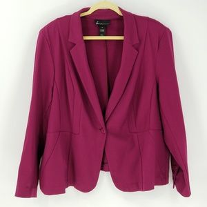 Lane Bryant Classic Fit Front Button Closed Blazer